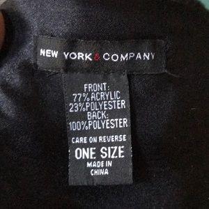 New York & Company Accessories - Black Faux fur collar